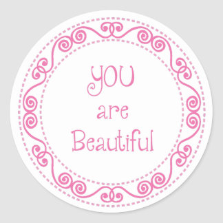 You are Beautiful Stickers / Girly Stickers