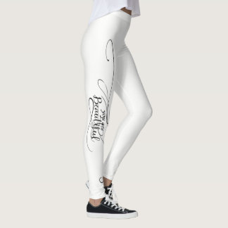 You Are Beautiful White Leggings