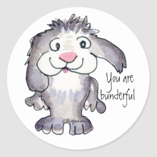 You Are Bunderful- Cartoon Rabbit Sticker