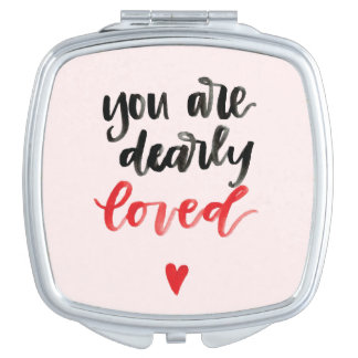 You Are Dearly Loved Compact Makeup Mirror
