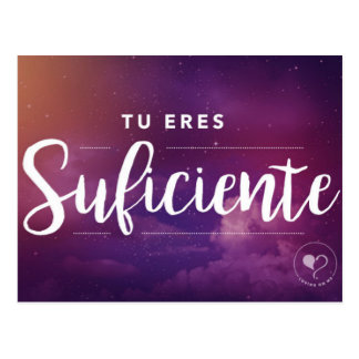 You are Enough (Spanish) Inspirational Postcard