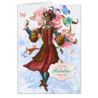 You Are Fabulous Darling Greeting Card