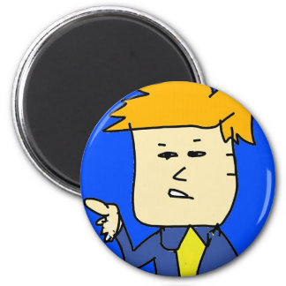 you are fired cartoon boy 2 inch round magnet
