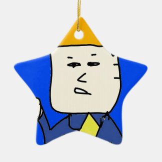 you are fired cartoon boy ceramic star ornament