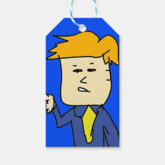 you are fired cartoon boy gift tags