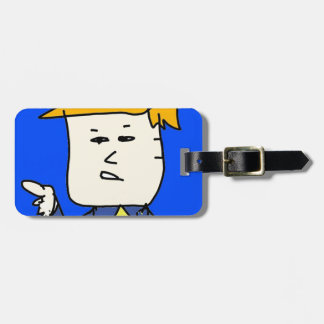 you are fired cartoon boy luggage tag
