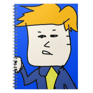 you are fired cartoon boy spiral notebook