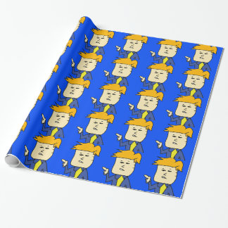 you are fired cartoon boy wrapping paper