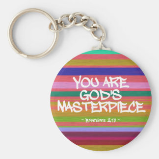 You Are God's Masterpiece Ephesians Quote Key Chain