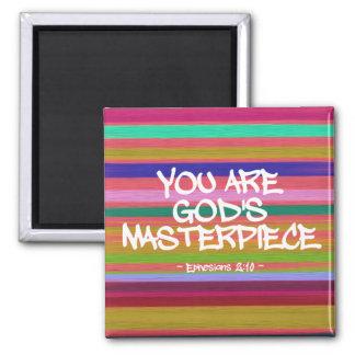 You Are God's Masterpiece Ephesians Quote Fridge Magnets