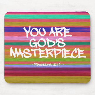 You Are God's Masterpiece Ephesians Quote Mousepads