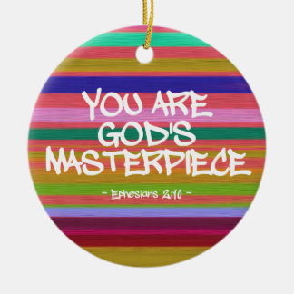 You Are God's Masterpiece Ephesians Quote Ornament