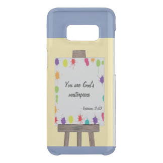 """You are God's Masterpiece"" paint splat easel blue Uncommon Samsung Galaxy S8 Case"