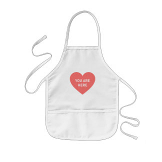 You are here red heart kids apron