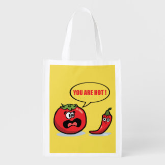 You are hot ! reusable grocery bag
