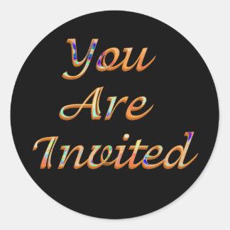 You Are Invited Classic Round Sticker