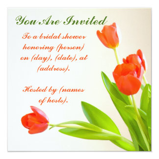 """You Are Invited"" Tulip Square Invitation"