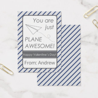 You are Just Plane Awesome Valentine Business Card