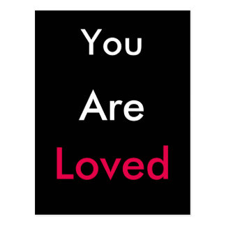 You ARE loved! Postcard