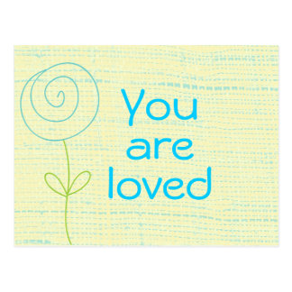 You are Loved Quote Postcard