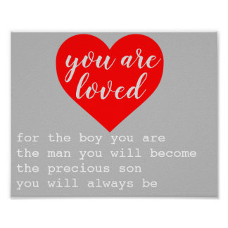 you are loved son's nursery poster