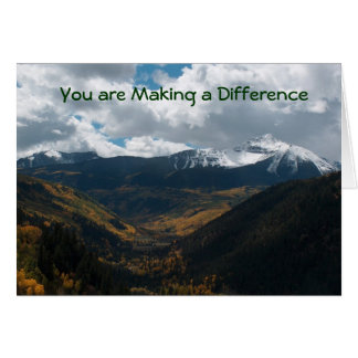You are making a difference card
