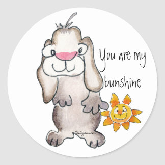 You are my Bunshine- Cartoon Rabbit Sticker