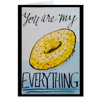 You Are My Everything funny watercolor valentine Card