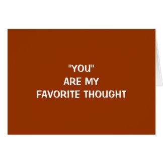 YOU ARE MY FAVORITE THOUGHT-EASTER/ALWAYS CARD