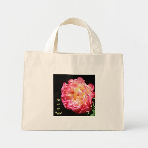 You are My Happy! gifts Rose Tote Bags Valentines