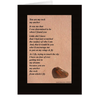 You are My Rock - Frameable Art Card