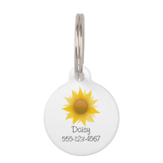 You Are My Sunflower Pet Name Tag