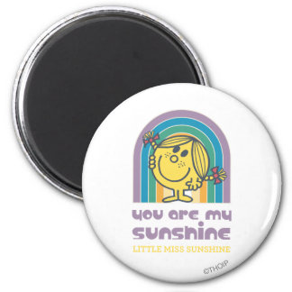You Are My Sunshine Arch 2 Inch Round Magnet
