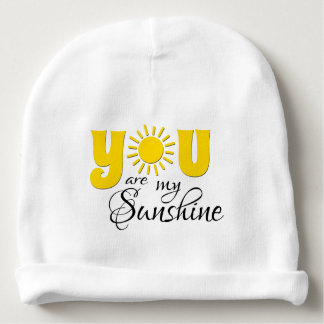 You are my sunshine baby beanie