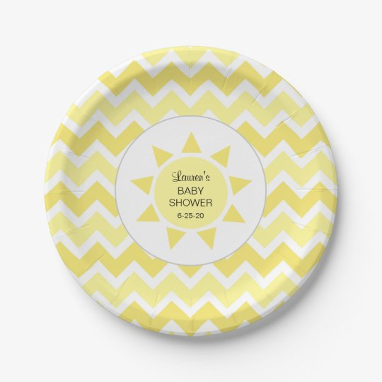 You are my sunshine baby shower decor 7 inch paper plate
