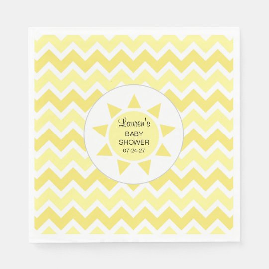 You are my sunshine baby shower decor disposable napkin
