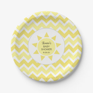 You are my sunshine baby shower decor paper plate