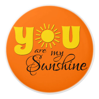 You are my sunshine ceramic knob