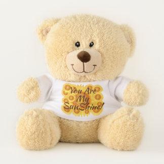 You are My Sunshine Colorful SunFlowers Teddy Bear