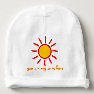 YOU ARE MY SUNSHINE COTTON BABY BEANIE