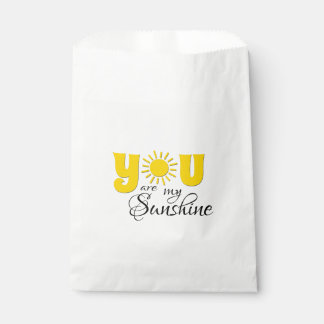You are my sunshine favour bag
