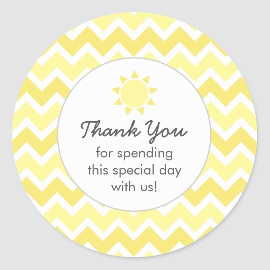 You are my sunshine favour bag thank you round sticker