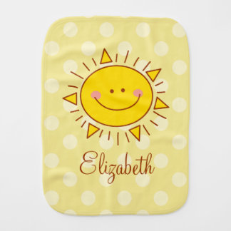 You Are My Sunshine Happy Cute Smiley Sunny Baby Burp Cloth
