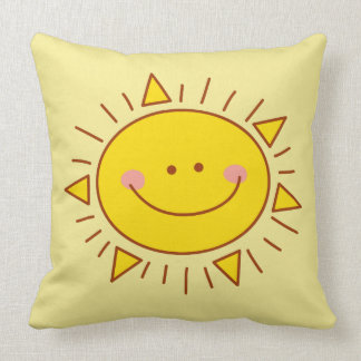 You Are My Sunshine Happy Cute Smiley Sunny Day Throw Pillow