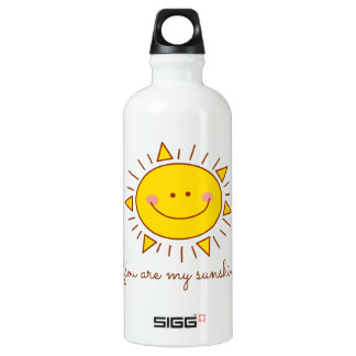 You Are My Sunshine Happy Cute Smiley Sunny Day Water Bottle