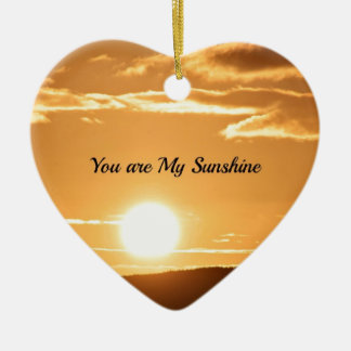 You are My Sunshine - Landscape with Rising Sun Ceramic Ornament