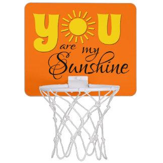 You are my sunshine mini basketball hoop