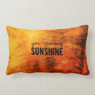 you are my sunshine nature art l quote pillow