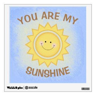 """You Are My Sunshine"" Pastel Cute Nursery Sun Wall Sticker"