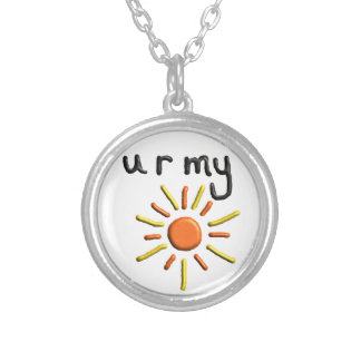"""you are my sunshine"" pendant valentines necklace"